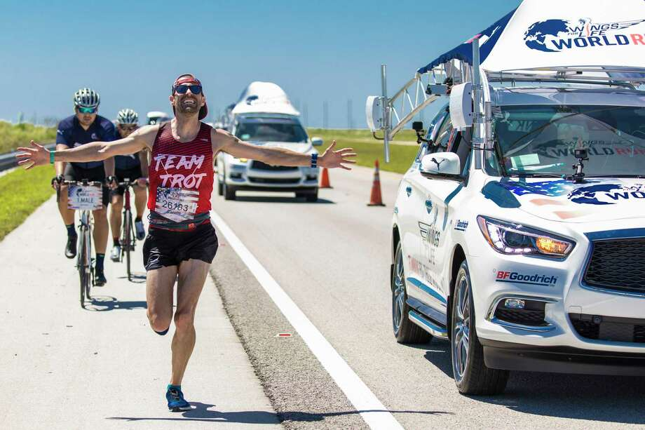 Katy resident Calum Neff ran 40.8 miles to win the Wings for Life World Run, May 7 in Sunrise, Florida. It was his second Wings for Life championship in four attempts, including a 36.4-mile performance at the 2014 event in Santa Clara, California. Photo: Marv Watson / Marv Watson for Wings for Life World Run
