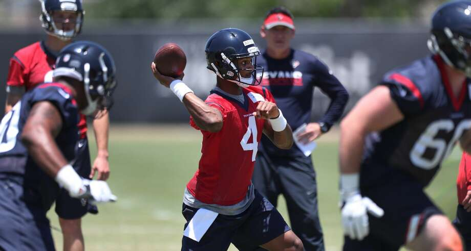 First-round pick Deshaun Watson (4) joined the Texans for last week's rookie minicamp. Click through the gallery to see more photos from Texans rookie minicamp. Photo: Steve Gonzales/Houston Chronicle
