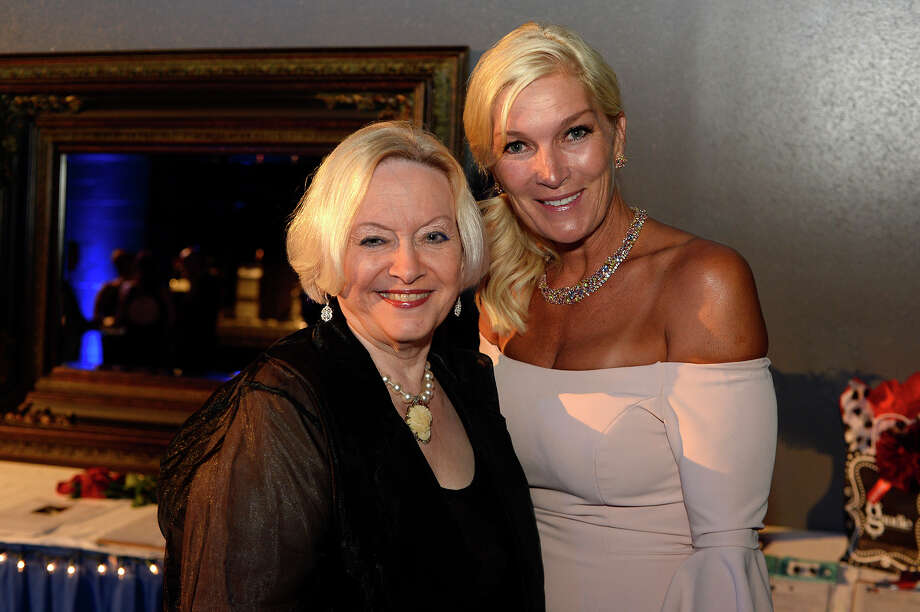 Judy Honeycutt and Kelli Arfeen during the Spindletop Center's Diamond Minds fundraiser gala at Ford Park on Saturday evening.  Photo taken Saturday 5/13/17 Ryan Pelham/The Enterprise Photo: Ryan Pelham / ©2017 The Beaumont Enterprise/Ryan Pelham
