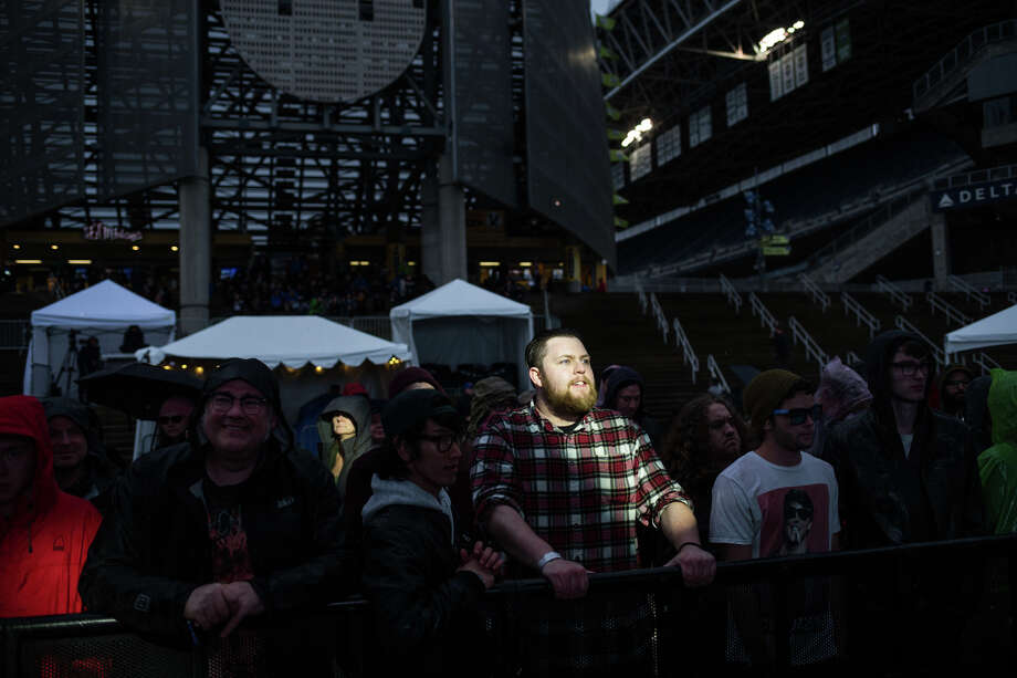 It's been the rainiest October through June on record in Seattle. Go figure.Pictured: Fans brave the rain while waiting for Dinosaur Jr. to take to the main stage during the third and final day of the first Upstream Music Fest + Summit in Pioneer Square, Saturday, May 12, 2017. Photo: GRANT HINDSLEY, SEATTLEPI.COM / SEATTLEPI.COM