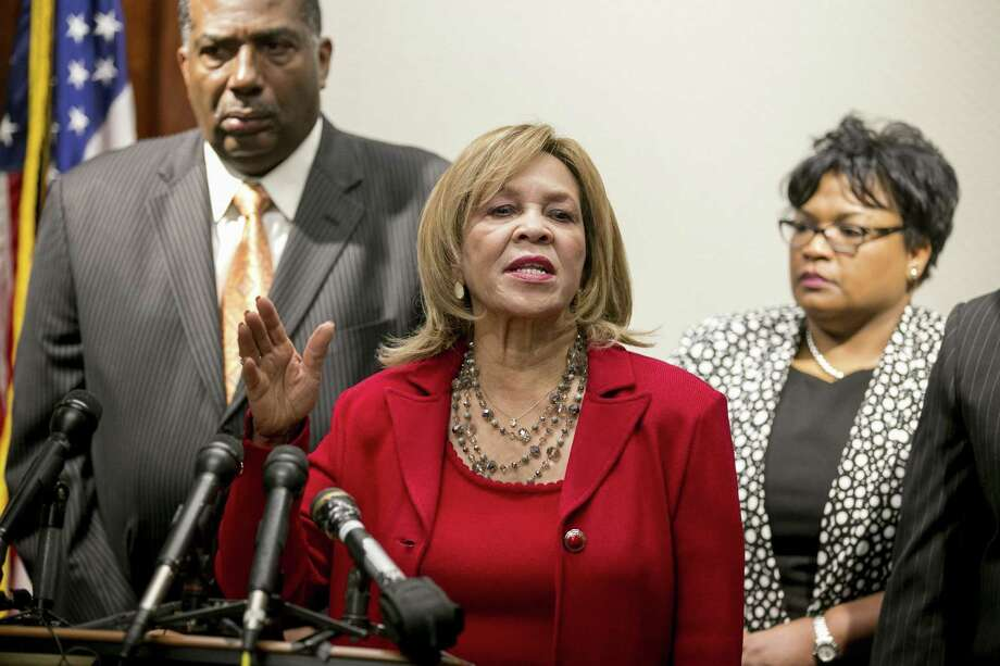 State Rep. Helen Giddings (center), D-DeSoto, shown speaking at a May news conference, announced Tuesday she will retire at the end of her term. Photo: Jay Janner /Austin American-Statesman / Austin American-Statesman