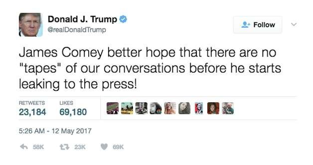 A tweet from President Trump Photo: @realDonaldTrump/Twitter