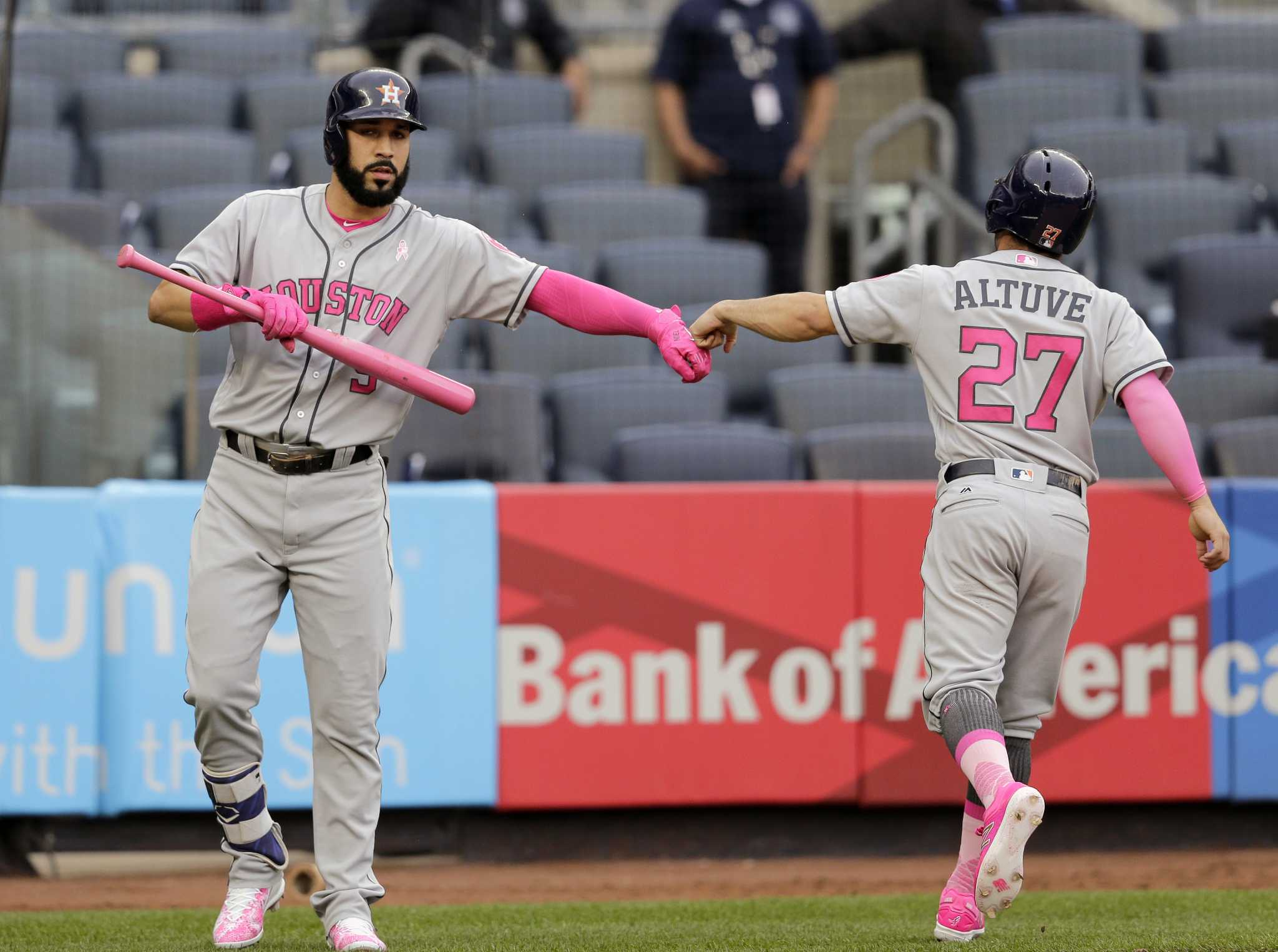 aa6858b6c11 The curious case of Astros star Jose Altuve s pink Mother s Day cleat -  Houston Chronicle