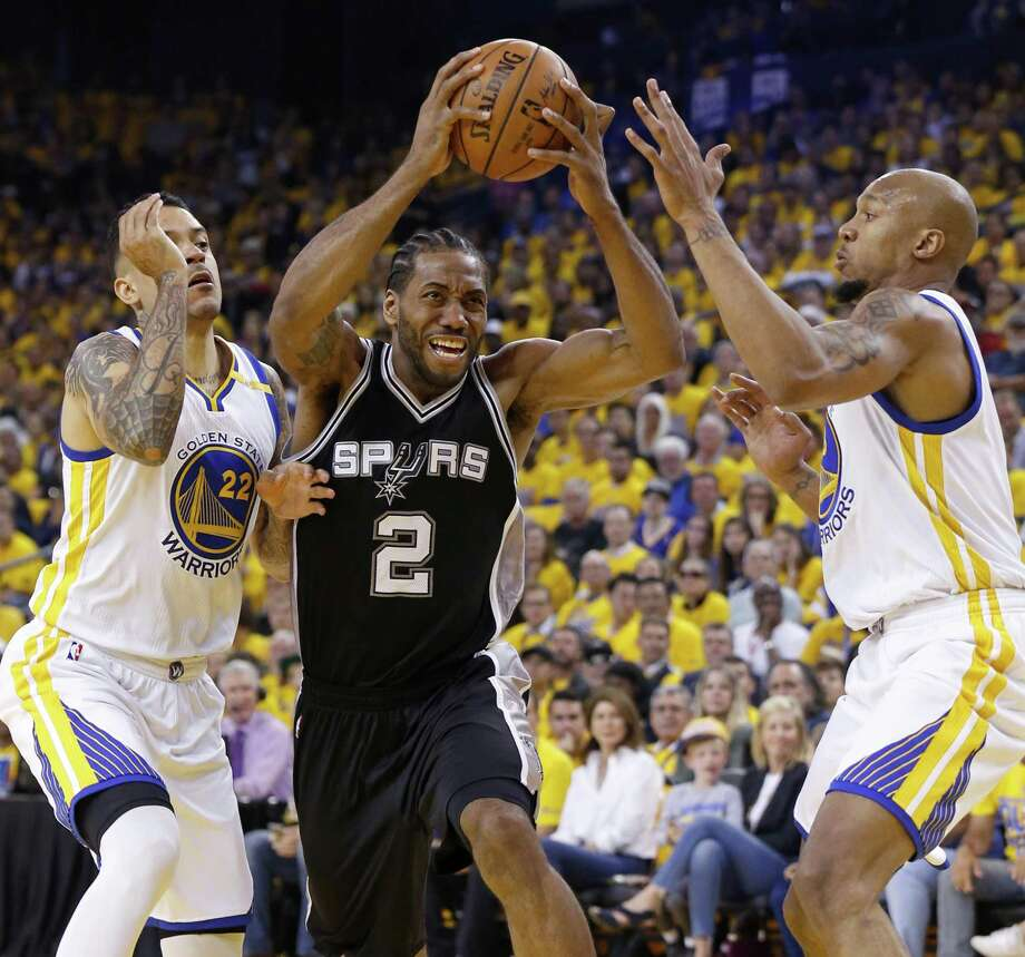 Kawhi Leonard in Game 1. For him, there would be no Game 2. Photo: Edward A. Ornelas /San Antonio Express-News / © 2017 San Antonio Express-News