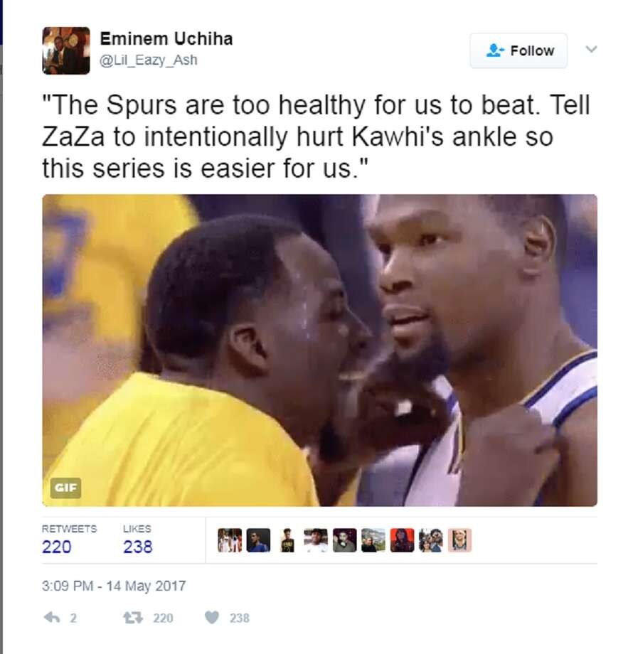 It did not take long for Twitter to take issue with Zaza Pachulia after he seemingly intentionally undercut Kawhi Leonard in Game 1 by obstructing his landing on a shot that led to Leonard rolling his left ankle and forcing him from the game. Photo: Twitter Screen Grab