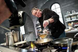 "San Antonio chef Jason Dady competes on Season 1 of  the Food Network show ""Iron Chef Gauntlet."""