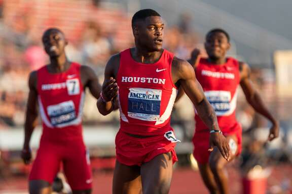 UH sprinter Eli Hall