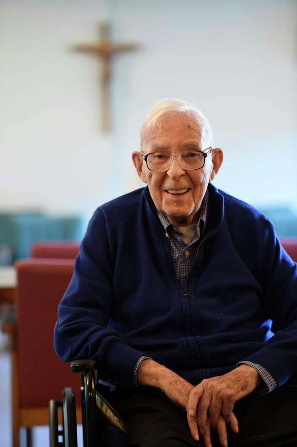 Brother John who will turn 100 years old next week spoke to the Times Union about his many experiences on his missions and his life at the St. Joseph's Center Friday  May 12, 2017 in Valaltie, N.Y.  (Skip Dickstein/Times Union) Photo: SKIP DICKSTEIN / 20040494A