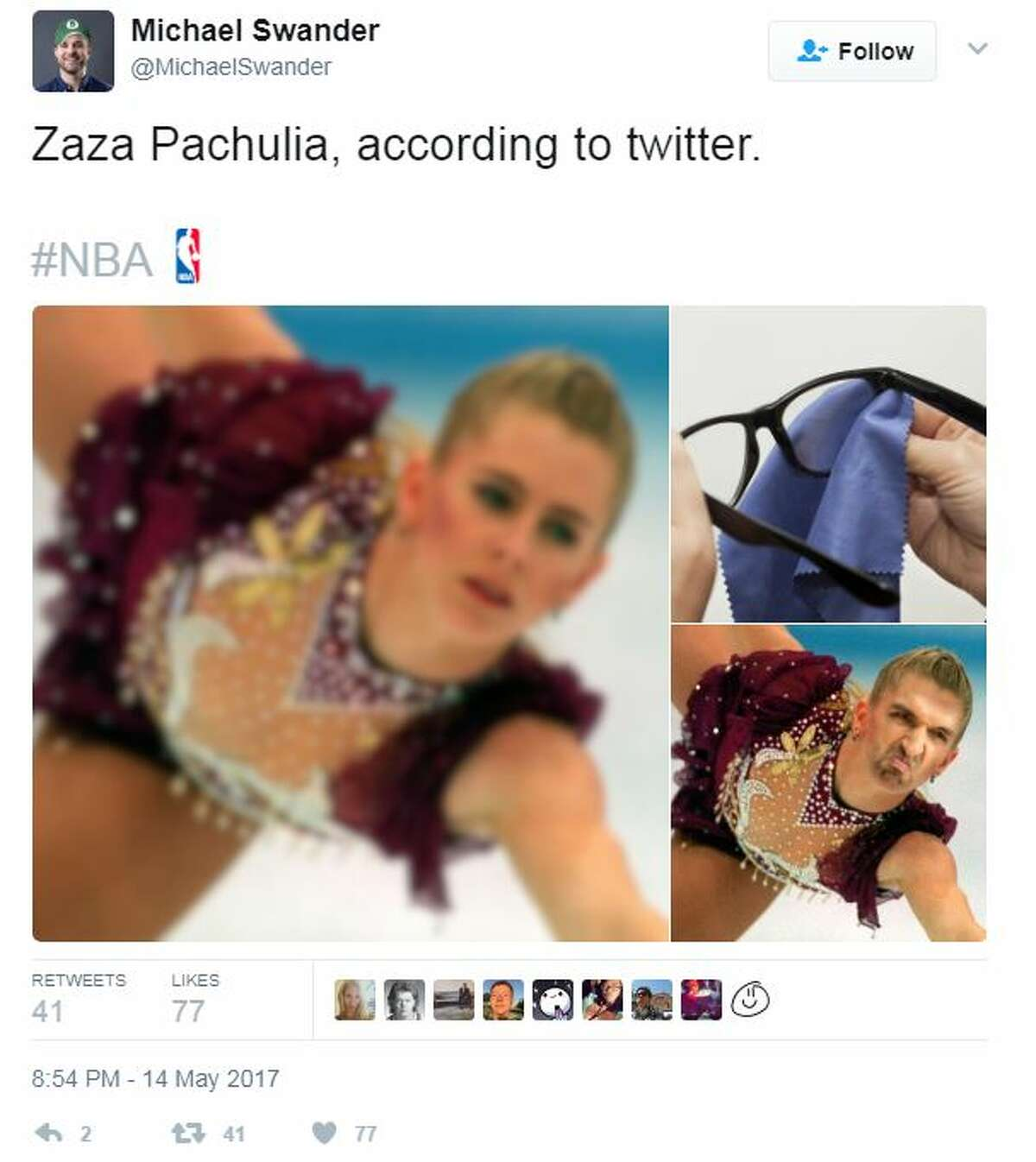 It did not take long for Twitter to take issue with Zaza Pachulia after a seemingly intentional undercut of Kawhi Leonard in Game 1 by obstructing his landing on a shot that led to Leonard rolling his left ankle and forcing him from the game.