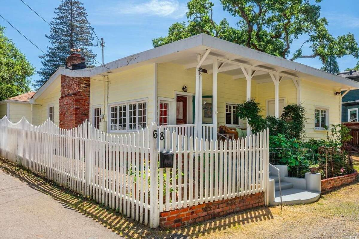 A cozy 1915 farmhouse tucked among the trees at 68 Medway Rd. in San Anselmo is on the market for $899,000. The three-bedroom, two-bath abode with 1,414 square feet sits on a sizable lot.