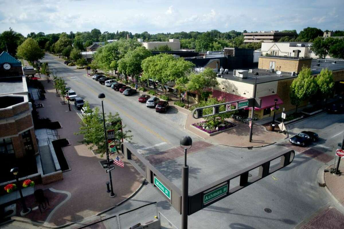 The nearly $9 million downtown streetscape project will fit downtown with a contemporary design, which officials say will cater to more and safer pedestrian usage, create space for outdoor and street events and outdoor dining, and boost bicycle accessibility.