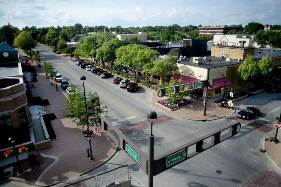 The nearly $9 million downtown streetscape project will fit downtown with a contemporary design, which officials say will cater to more and safer pedestrian usage, create space for outdoor and street events and outdoor dining, and boost bicycle accessibility. Photo: File
