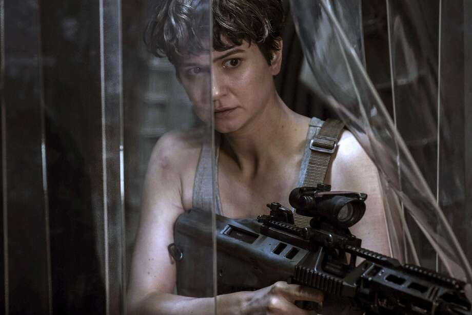 """Katherine Waterston is the spaceship's first officer facing down the horror in """"Alien: Covenant."""" Photo: Mark Rogers, Associated Press"""