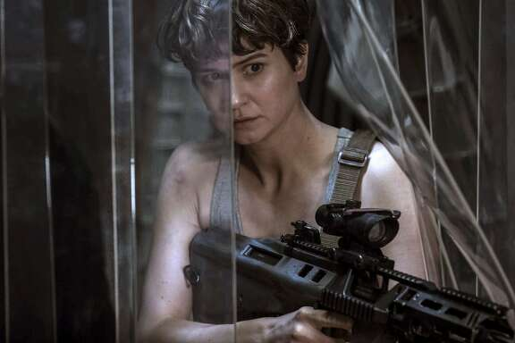 "This image released by Twentieth Century Fox shows Katherine Waterston in a scene from ""Alien: Covenant.""  (Mark Rogers/Twentieth Century Fox via AP)"