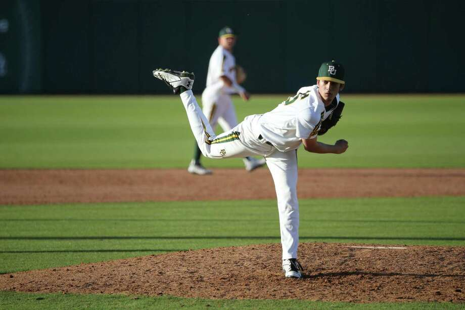 Troy Montemayor, who pitched in front of thousands at the Little League World Series, is a star closer at Baylor. Photo: Courtesy Photo / Baylor Athletics