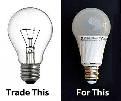 Swapping Old Bulbs For Light Emitting Diodes In Danbury