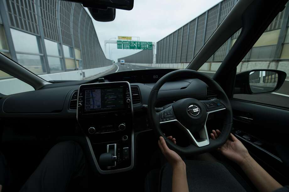 Chronicle staff writer Wendy Lee takes a test drive in a Nissan Serena minivan equipped with the ProPilot system in Yokohama, Japan. Photo: Takashi Aoyama, Special To The Chronicle