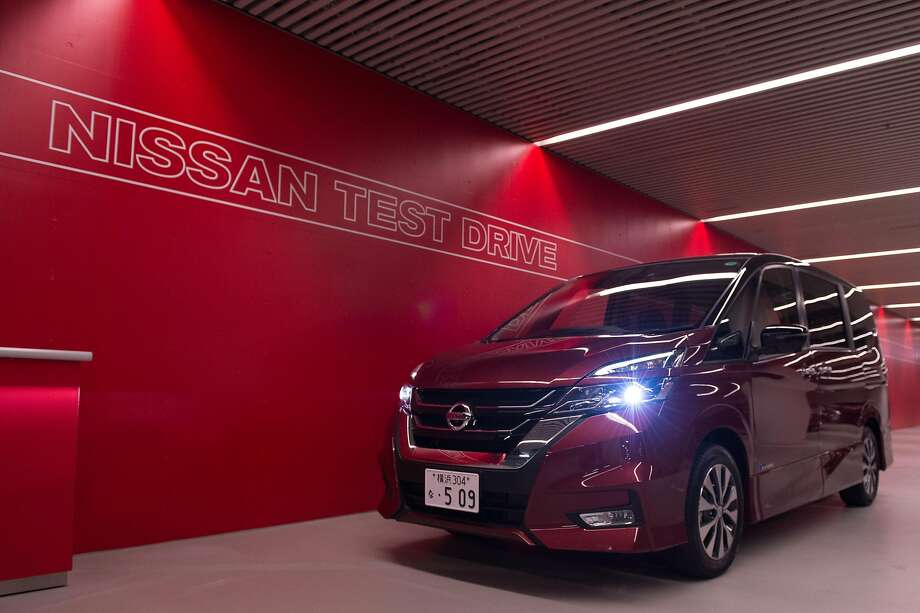 A Serena minivan equipped with ProPilot mode is seen after a high way test drive at Nissan global headquarters in Yokohama, Japan. Photo: Takashi Aoyama, Special To The Chronicle