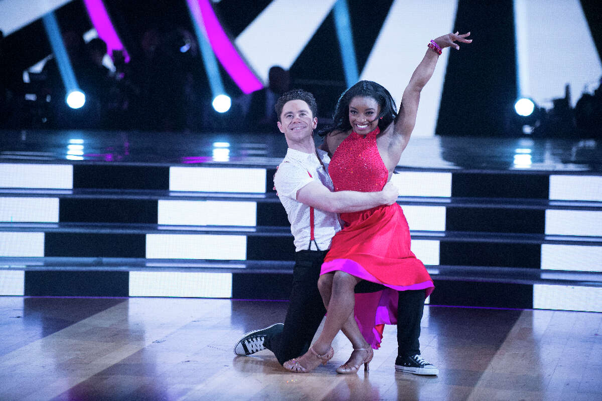 Olympic champion Simone Biles says Dancing with the Stars has taught her to be more confident.