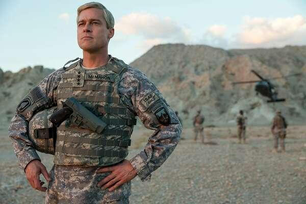 "Brad Pitt in ""War Machine."" MUST CREDIT: Francois Duhamel - Netflix."
