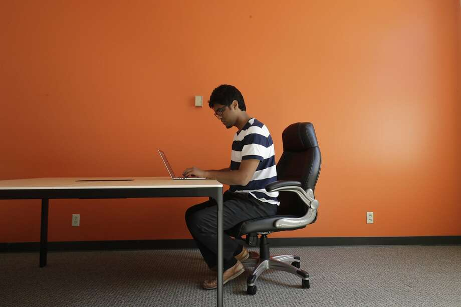 Prateek Joshi, founder of Pluto AI in the conference room of his new office on Monday, May 15, 2017 in Palo Alto, CA. Photo: Paul Kuroda, Special To The Chronicle
