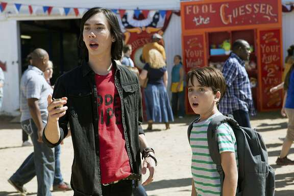 "This image released by Twentieth Century Fox shows Charlie Wright, left, and Jason Drucker in a scene from, ""Diary of a Wimpy Kid: The Long Haul."" (Daniel McFadden/Twentieth Century Fox via AP)"