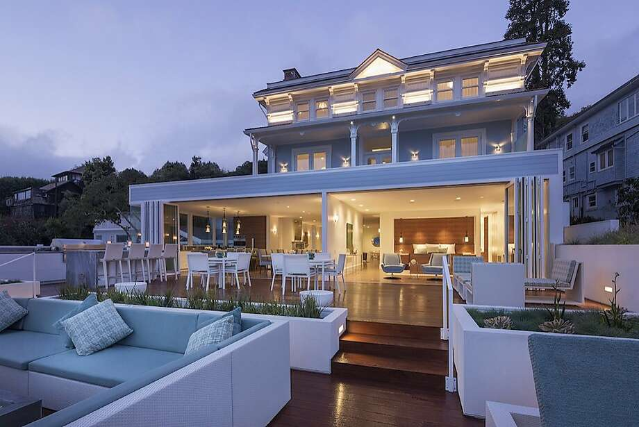 The 5,000-square-foot Alexandrite Suite, which includes a deck large enough for 100 people, extends from the base of the 1885mansion at Casa Madrona Hotel & Spa in Sausalito. Photo: Casa Madrona Hotel And Spa