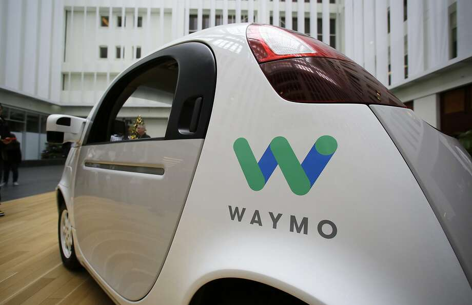 A Waymo driverless car is displayed during a Google event in San Francisco in December 2016. Waymo, the self-driving car company owned by Google's parent Alphabet Inc., is battling Uber in court over autonomous vehicle trade secrets. Photo: Eric Risberg, Associated Press