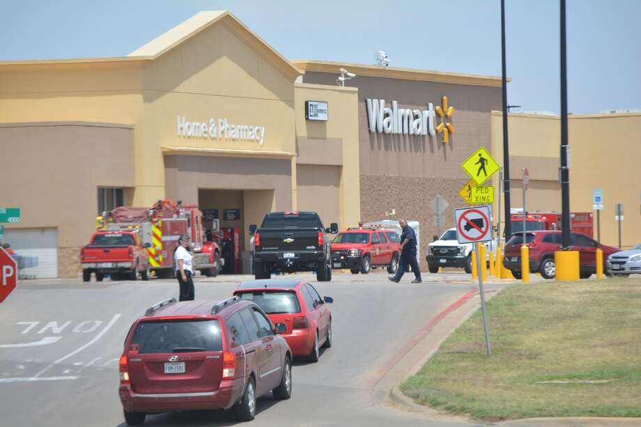 Plainview's Walmart Supercenter was closed for more than three hours Monday for a possible natural gas leak, but reopened about 3:15 p.m. after it was determined that a shutoff value was inadvertently opened by a crew replacing skylights broken in a recent hail storm. No other leak was detected despite an exhaustive search. Plainview Fire Department/EMS and Atmos Energy personnel were called to the Walmart Supercenter about 11:50 a.m. Monday after customers complained of the smell of natural gas. Twelve to 14 individuals were subsequently taken to the Covenant Health Plainview Emergency Room for evaluation and treatment. According to fire officials and a Walmart corporate spokesperson, the building was quickly evacuated and a search began for the source of the natural gas. While the building was closed, Walmart associates could be observed clustered near the east parking lot entrance across from Chili's Restaurant. Other associates were stationed at parking lot entrances directing motorists away from Walmart property. The corporate spokesman said the store reopened after it was determined that someone repairing broken skylights accidentally opened a gas shutoff valve with their foot when they stepped back while working. The spokesman said no leak was detected inside the building, and the open shutoff value on the roof was determined to be the only source of escaping natural gas.