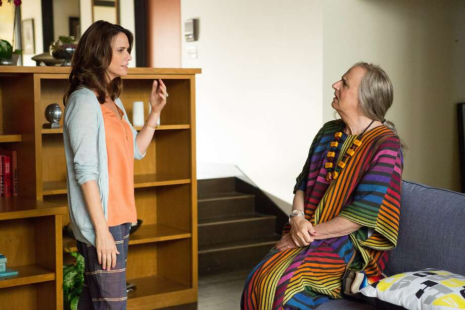 "Jeffrey Tambor (right) as Maura Pfefferman and Amy Landecker as daughter Sarah in ""Transparent."" Photo: Beth Dubber"