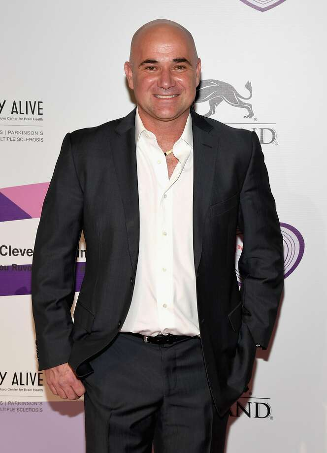 "LAS VEGAS, NV - APRIL 27:  Former tennis player and Community Achievement Award recipient Andre Agassi attends the 21st annual Keep Memory Alive ""Power of Love Gala"" benefit for the Cleveland Clinic Lou Ruvo Center for Brain Health honoring Ronald O. Perelman at MGM Grand Garden Arena on April 27, 2017 in Las Vegas, Nevada.  (Photo by Ethan Miller/Getty Images for Keep Memory Alive) Photo: Ethan Miller, Getty Images For Keep Memory Ali"