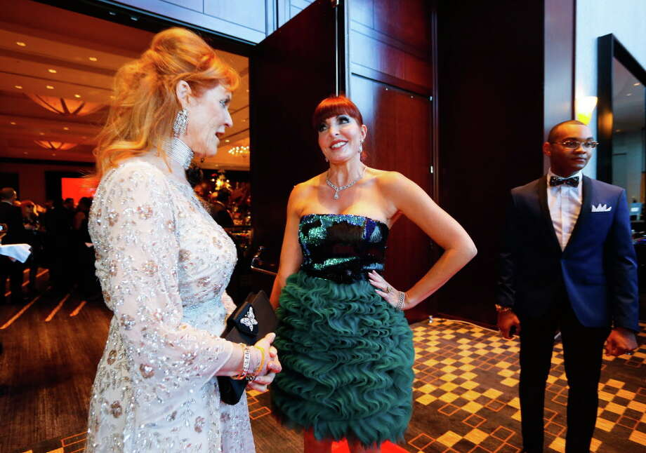 Sarah Ferguson talks with Staci Henderson Photo: Annie Mulligan, Annie Mulligan / For The Houston Chronicle / @ 2017 Annie Mulligan