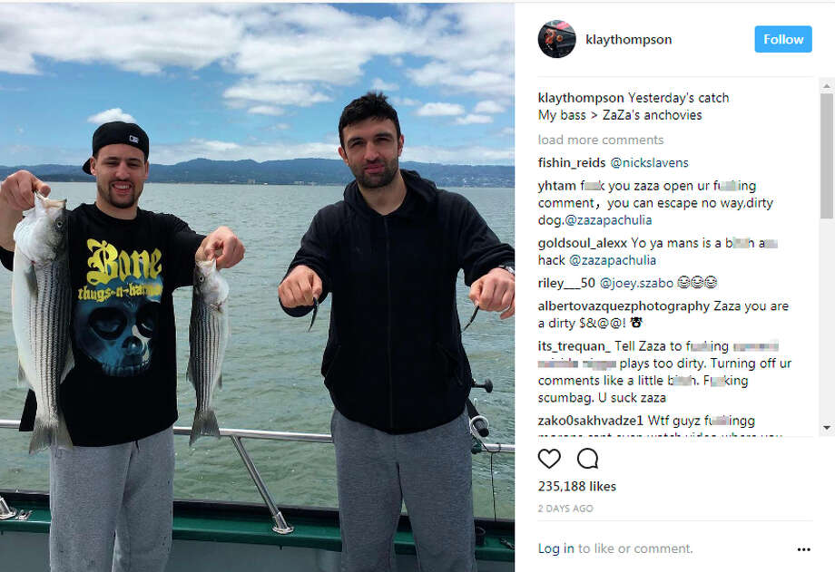 After Zaza Pachulia reportedly turned off comments on his Instagram account on Monday, May 15, 2017, angry fans redirected their vitriolic comments to Klay Thompson's Instagram posts. Photo: Instagram/klaythompson