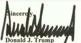 Trump signature, as seen on executive order