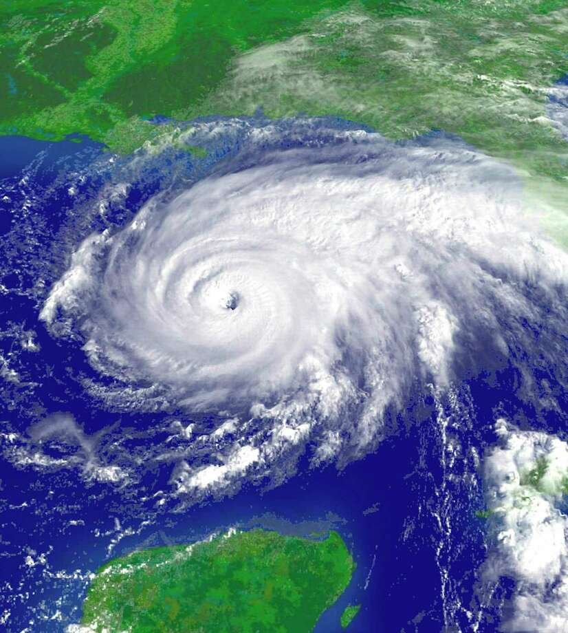 National Oceanic and Atmospheric Administration satellite image of Hurricane Rita taken as the dangerous storm moves through the Gulf of Mexico and headed for a rendezvous with the U.S. Gulf Coast, September 22, 2005.  Photo: HO / X80001