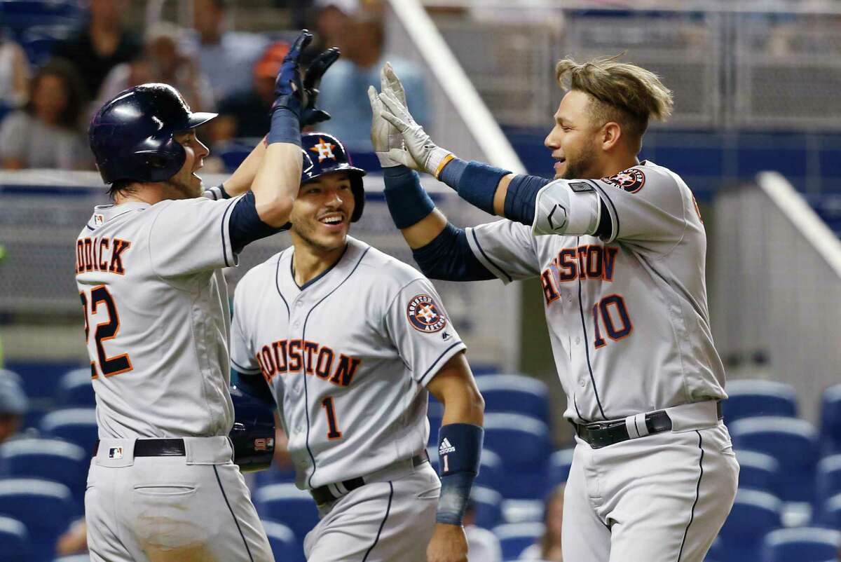 PHOTOS: A look at other American League teams who started as hot as the Astros have in the past 50 years If the Astros win Tuesday night in Miami, they will be just the 18th American League team in the past 50 seasons to win at least 28 of their first 40 games. Browse through the photos to see how other American League teams have fared that started off as hot as this year's Astros team has.