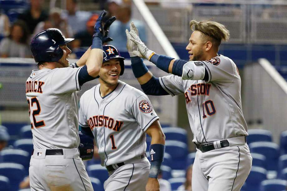 PHOTOS: A look at other American League teams who started as hot as the Astros have in the past 50 yearsIf the Astros win Tuesday night in Miami, they will be just the 18th American League team in the past 50 seasons to win at least 28 of their first 40 games.Browse through the photos to see how other American League teams have fared that started off as hot as this year's Astros team has. Photo: Wilfredo Lee, Associated Press / Copyright 2017 The Associated Press. All rights reserved.