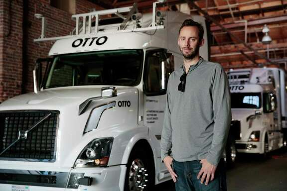 FILE — Anthony Levandowski, a former Google engineer and co-founder of the self-driving truck company Otto, which was bought by Uber, in San Francisco, May 16, 2016. Waymo, the self-driving car business spun out of Google's parent company last year, asked a federal court on March 10, 2017 to block Uber's work on a competing self-driving truck that Waymo claimed could be using stolen technology. (Ramin Rahimian/The New York Times)