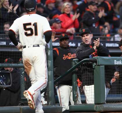 Giants' Bruce Bochy puts Mac Williamson 'back in the saddle'