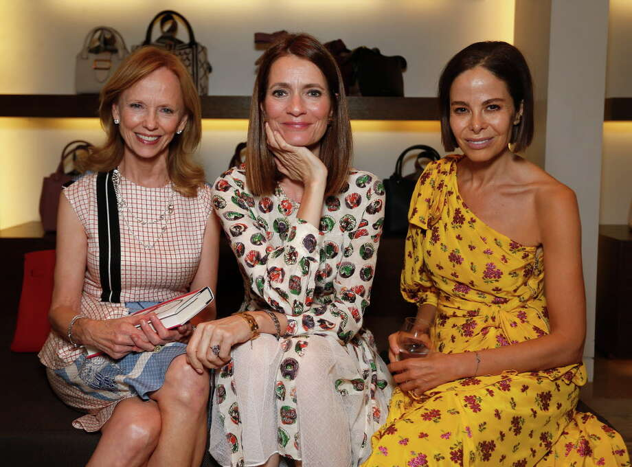HOUSTON, TX - MAY 15: (L-R)  Susan Sarofim, Plum Sykes and Alison Sarofim at the 'Party Girls Die in Pearls' book launch at Burberry Houston at The Galleria on May 15, 2017 in Houston, Texas. Photo: Bob Levey, Getty Images For Burberry / 2017 Getty Images