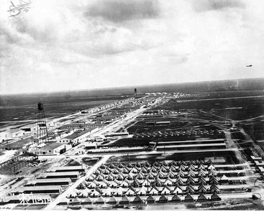 Ellington Field in 1918. Both Ellington and the 111th Air Squadron, which is now part of the 147th Reconnaissance Wing, were formed in 1917. The 111th Air Squadron turns 100 on May 20.Click through the slideshow to see more historical photos from Ellington Field and other Texas bases. Photo: United States Army