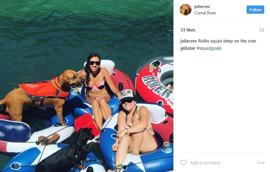 juliecrev: Rollin squad deep on the river  Photo: Instagram.com