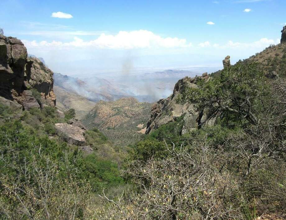 Government photos show a wildfire sparked by lightning in the Chisos Mountains of Big Bend National Park that had spread to 1,040 acres as of May 15. Photo: National Park Service / National Park Service