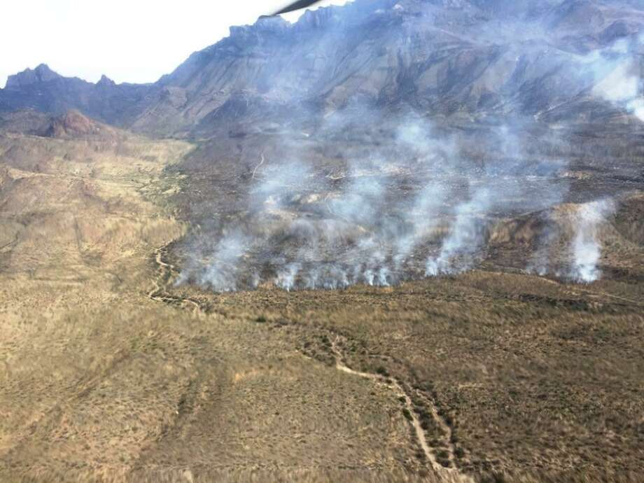 Big Bend National Park staff reopened the popular Chisos Basin campground Thursday as a wildfire in the park continued to smolder out. Shown is a photo of the fire from earlier in the week. Photo: National Park Service