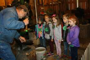 Children of all ages from schools across the Upper Thumb and state recently participated in field trips to the Octagon Barn. Coverage of the field trip is in the Lifestyles section of Saturday's Huron Daily Tribune.