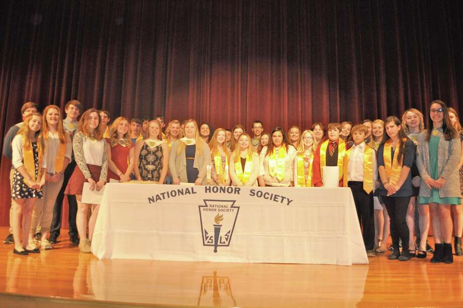 The Caseville Public School chapter of the National Honor Society and National Junior Honor Society recently inducted 10 new members during its annual induction ceremony. Photo: Submitted Photo
