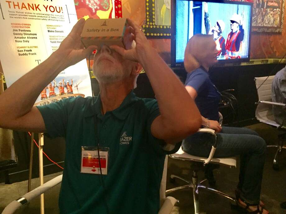 Texas Mutual exhibited its virtual reality safety training platform for a gathering of construction industry professionals in Houston.