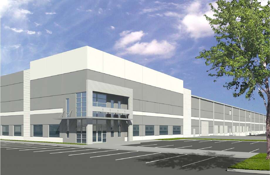 A sample warehouse building for the planned Bayport Logistics Park in Pasadena.