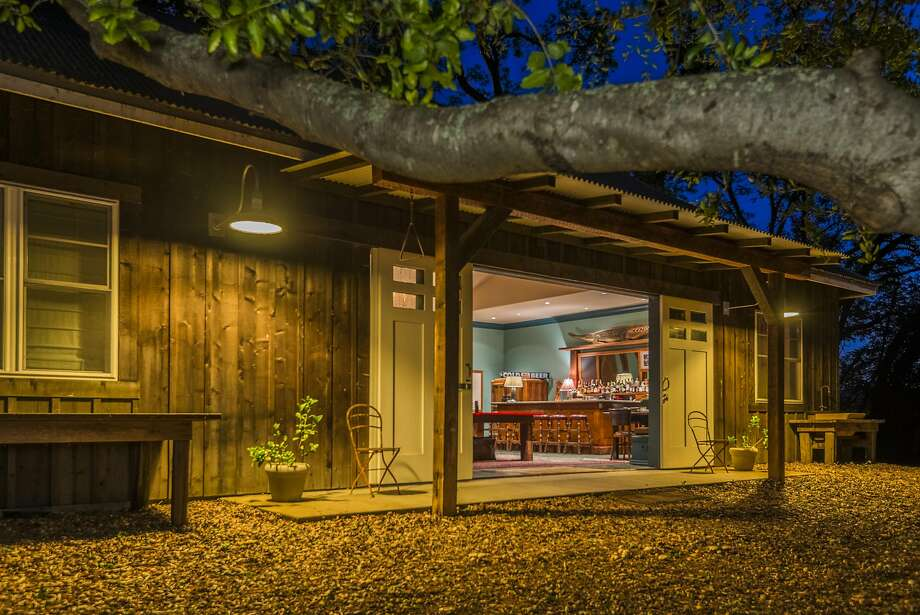 An entertainment barn sits detached from the main home at 701 Leveroni Road in Sonoma. Photo: Carol Sebastiani