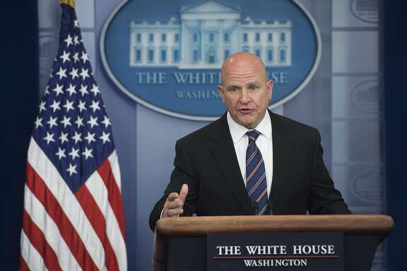 "US National Security Adviser H. R. McMaster speaks during a briefing in the Brady Press Briefing Room of the White House in Washington, DC, May 16, 2017. McMaster on Tuesday denied that US President Donald Trump had caused a ""lapse in national security"" following reports he disclosed highly-classified information about the Islamic State group to Russian officials. / AFP PHOTO / SAUL LOEBSAUL LOEB/AFP/Getty Images"